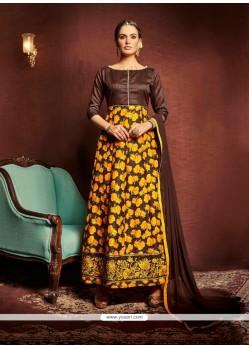 Magnetize Bhagalpuri Silk Lace Work Designer Suit