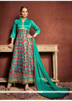Impressive Multi Colour Bhagalpuri Silk Designer Suit