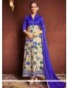 Amazing Bhagalpuri Silk Blue Designer Suit