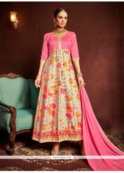 Thrilling Multi Colour Print Work Designer Suit