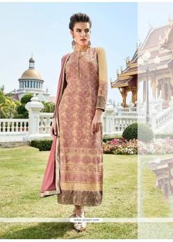 Strange Resham Work Fancy Fabric Multi Colour Designer Suit