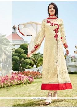 Epitome Fancy Fabric Cream Designer Suit