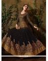 Subtle Georgette Black Patch Border Work Anarkali Salwar Suit