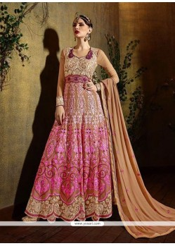 Precious Pink Georgette Anarkali Salwar Suit