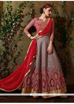 Incredible Patch Border Work Georgette Anarkali Salwar Suit