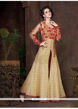 Glamorous Net Patch Border Work Anarkali Salwar Kameez