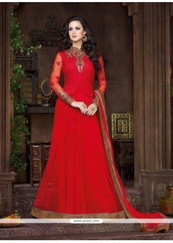 Aspiring Patch Border Work Anarkali Salwar Kameez