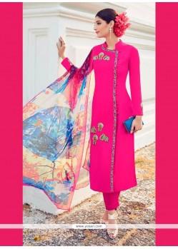 Fascinating Cotton Satin Digital Print Work Designer Suit
