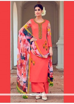 Congenial Orange Designer Suit