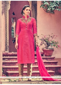 Incredible Embroidered Work Churidar Designer Suit