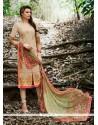 Voguish Patch Border Work Green Georgette Churidar Designer Suit