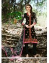 Black Georgette Churidar Designer Suit