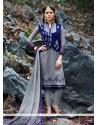 Genius Georgette Patch Border Work Churidar Designer Suit