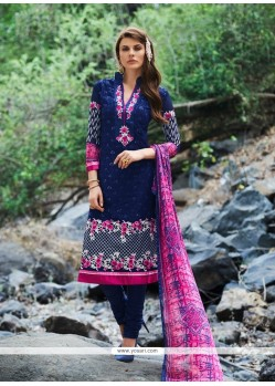 Astonishing Navy Blue Churidar Designer Suit