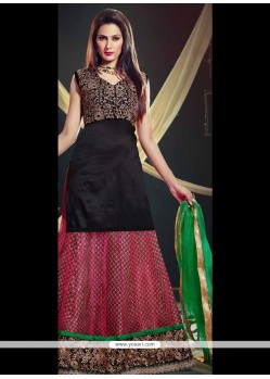 Catchy Black A Line Lehenga Choli