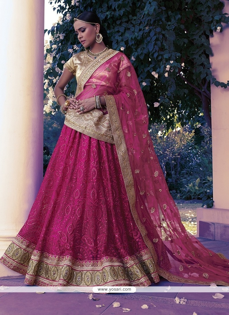 Attractive Net Patch Border Work A Line Lehenga Choli