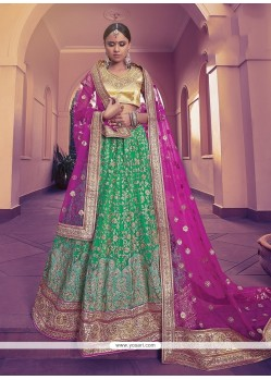 Sumptuous Net Embroidered Work A Line Lehenga Choli