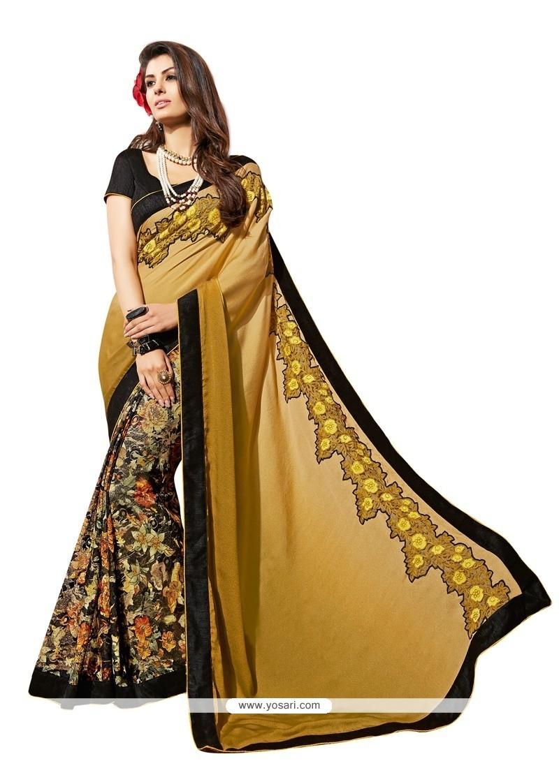 Exotic Multi Colour Patch Border Work Net Designer Saree