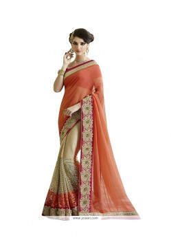 Dainty Patch Border Work Lycra Designer Saree