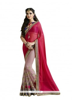 Swanky Fancy Fabric Magenta Designer Saree