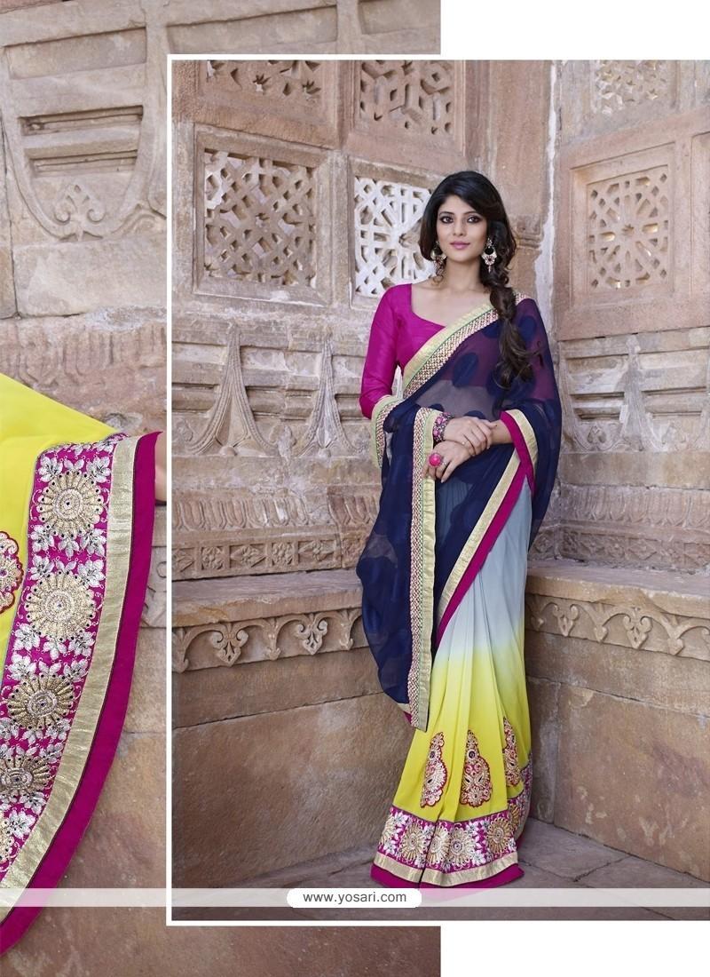 Lavish Patch Border Work Classic Designer Saree