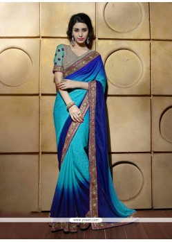Versatile Georgette Embroidered Work Classic Designer Saree