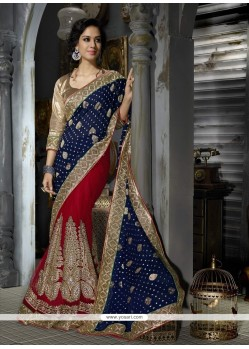 Ravishing Viscose Patch Border Work Classic Designer Saree