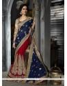 Ravishing Viscose Patch Border Work Classic Designer Saree