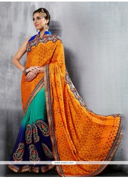 Prime Georgette Multi Colour Classic Designer Saree