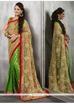 Haute Embroidered Work Net Classic Designer Saree