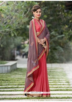 Lavish Georgette Embroidered Work Designer Saree