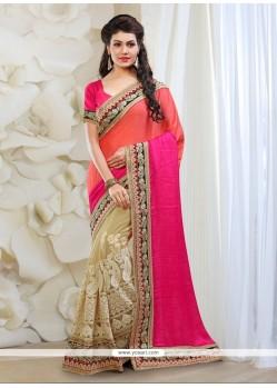 Delectable Patch Border Work Multi Colour Jacquard Classic Designer Saree