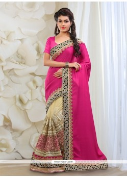 Riveting Net Embroidered Work Classic Designer Saree