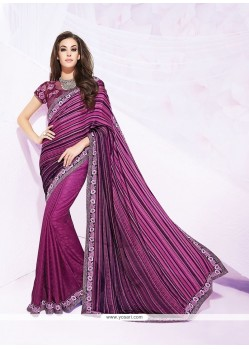 Modest Purple Designer Saree