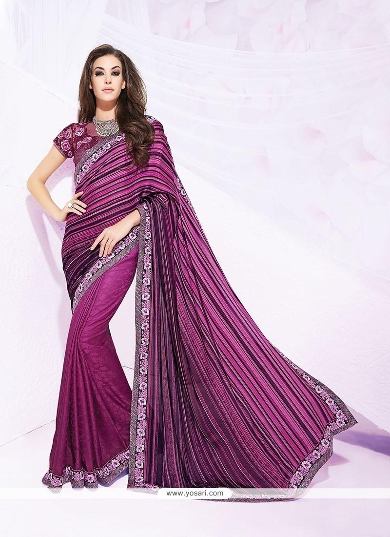 Modest Purple Designer Saree