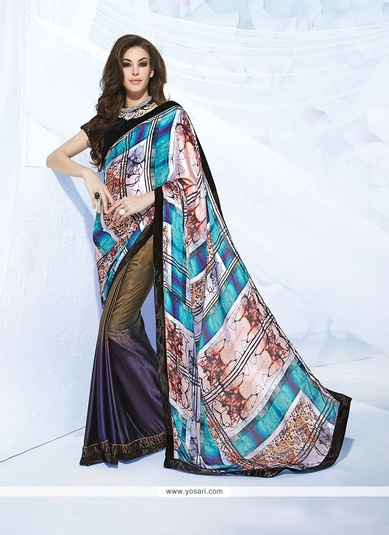 Impeccable Jacquard Print Work Designer Saree