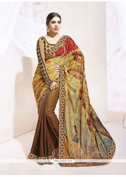 Lustre Silk Patch Border Work Designer Saree