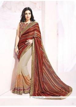 Especial Patch Border Work Designer Saree