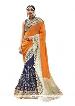 Marvelous Patch Border Work Classic Designer Saree
