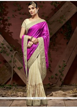 Snazzy Faux Crepe Designer Saree