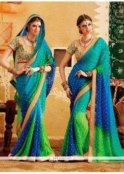 Latest Georgette Multi Colour Designer Saree