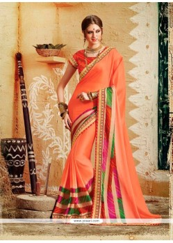 Intrinsic Georgette Designer Saree