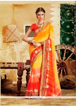 Elite Print Work Designer Saree