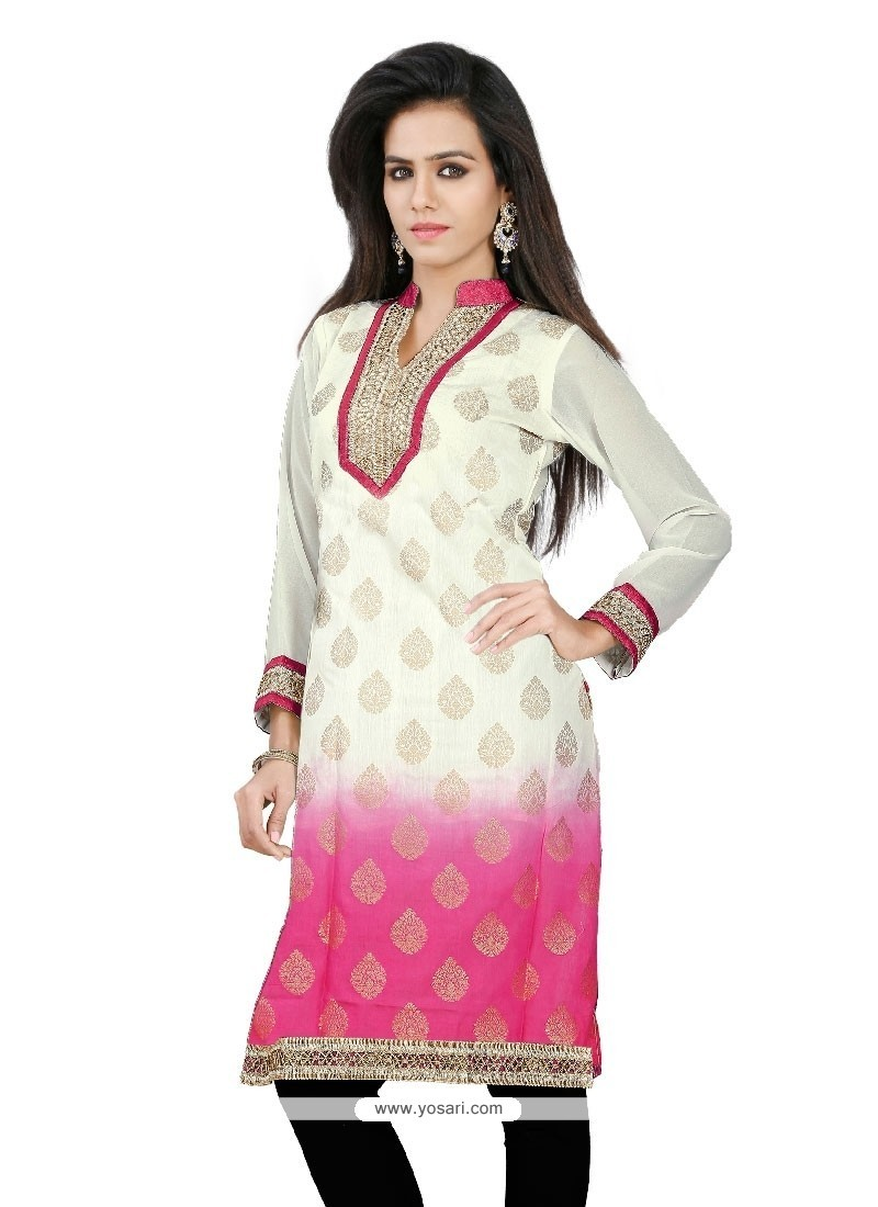 Imperial Off White Casual Kurti