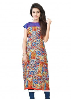 Perfect Cotton Multi Colour Casual Kurti