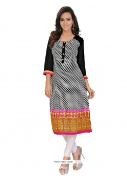 Festal Print Work Georgette Party Wear Kurti
