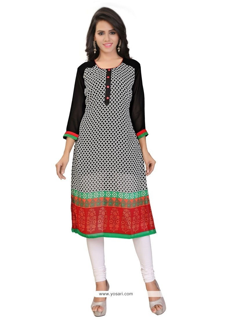 Glitzy Multi Colour Party Wear Kurti