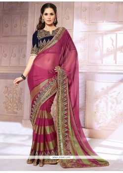 Splendid Wine Jacquard Saree