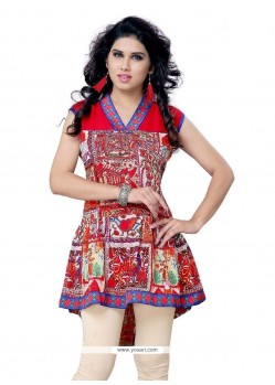 Monumental Georgette Print Work Party Wear Kurti