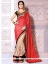 Radiant Red Georgette Wedding Saree